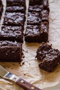 Chewy Vegan + Gluten-free Brownies [the very best!] | edibleperspective.com #glutenfree #vegan
