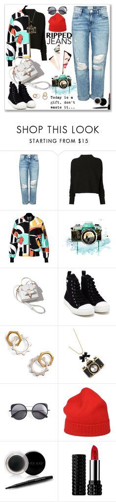 """""""photographer girl..(ripped jean,contest entry)"""" by nihal-imsk-cam ❤ liked on Polyvore featuring Current/Elliott, Victoria Beckham, Moschino, WALL, Tory Burch, Betsey Johnson, Wood Wood, malo, Mary Kay and Kat Von D"""