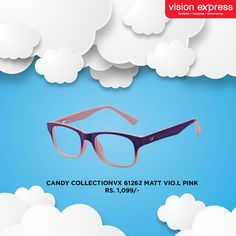 #StyleExpress  For children, our candy collection of spectacle frames are designed for durability and comfort.   Model –VX 61262 MATT VIO.L