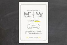 Cutely informal.  I'd like a few more graphics, but still a cute idea.  Bistro Wedding Invitations