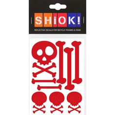 #shiok! #becomevisible! #retro-reflective #cycling #outdoor #sticker #bike I 9.95 EUR (incl. VAT) Skull And Bones, Manners, Cycling, Bike, Activities, Stickers, Retro, Outdoor, Bicycle