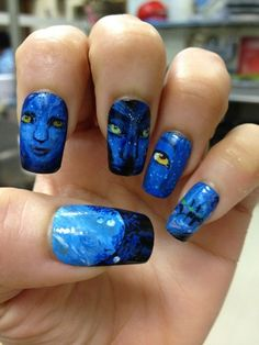 Avatar Nails-- That is so cool!