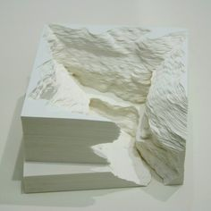 Book and paper sculptures by Noriko Ambe sculpture paper books