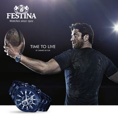 Gerard Butler for Festina Time for Sport · Time to Live campaign