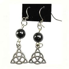 Check out Hematite Triquetr..., another amazing item we have available at our online store. View it here: http://crystalsnherbs.com/products/hematite-triquetra-earrings?utm_campaign=social_autopilot&utm_source=pin&utm_medium=pin