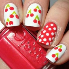 If you're looking for some cute nail art designs, you are at the right place!These 20 Simple nails are so easy to make and they are super cute as well. art designs easy lazy girl Simple Cute Nails You Can Make By Yourself - ILOVE Nail Designs 2015, Manicure Nail Designs, Cute Nail Art Designs, Nail Manicure, Diy Nails, Nails Design, Nail Designs For Kids, Fruit Nail Designs, Awesome Designs