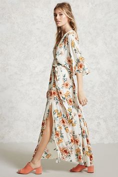 Contemporary Floral Maxi Dress