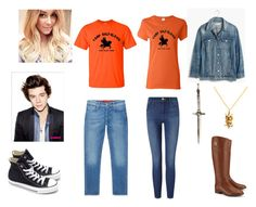 """Percy jackson and Annabeth chase"" by chaimae-megherbi on Polyvore featuring mode, Madewell, Tory Burch, Frame Denim, London Manori, Lauren Conrad, Pamela Love, Jacob Cohёn et Converse"