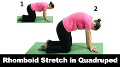 A rhomboid stretch in quadruped can help relieve tension and pain in the upper back and shoulders. Watch more Ask Doctor Jo videos featuring full routines for common injuries and syndromes at http://www.askdoctorjo.com