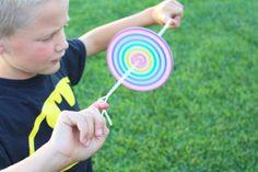 colorful kids crafts DIY Paper Spinner