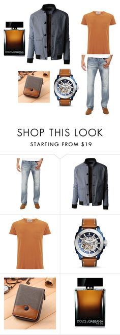 """""""My man  $"""" by deyanafashion ❤ liked on Polyvore featuring Buffalo David Bitton, LE3NO, Levi's, FOSSIL and Dolce&Gabbana"""