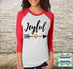 Hey, I found this really awesome Etsy listing at https://www.etsy.com/listing/256174750/joyful-shirt-with-glitter-accent