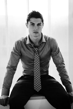 The reason i chose Cristiano Ronaldo and this picture is because he is true icon masculine icon to the world playing the most famous sport. I chose him wearing a tie and dress shirt because clothes determine your gender and a tie show masculinity and class. As a result this picture is a great example.