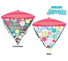 Surprise Mom with a Happy Mother's Day UltraShape Diamondz balloon! #burtonandburton #balloon #mothersday