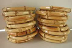 These tiki style bangles will make any PinUp or Punk outfit POP!   eBay!