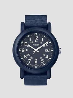 Timex Round Case Camper All Blue TW2P62600