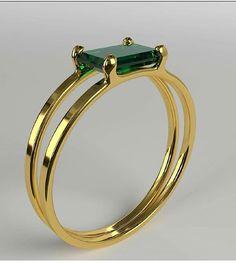 Emerald Double Ring - items for sale # . - Emerald Double Ring – items for sale # - Diy Schmuck, Schmuck Design, Gold Rings Jewelry, Diamond Jewelry, Man Jewelry, Jewellery Box, Prom Jewelry, Jewellery Shops, Wedding Jewelry