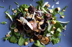 warm mushroom salad with hazelnuts – smitten kitchen