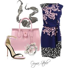 """Pink and Blue"" by orysa on Polyvore"