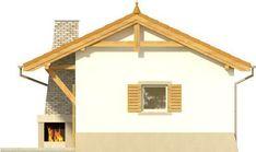DOM.PL™ - Projekt domu KR DOMEK 6 CE - DOM KR5-83 - gotowy koszt budowy Gazebo, Pergola, Outdoor Structures, Facades, Furniture, Home Decor, Houses, Small Apartment Plans, Kiosk