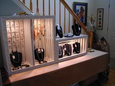 Small Jewelry Booth Idea.