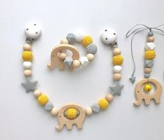 Items similar to pram chain, bite chain, maxi cozy set ideal baby gift boy on Etsy - Babysachen Handgemachtes Baby, Baby Toys, Diy Baby, Kit Bebe, Cool Gifts For Kids, Dummy Clips, Unique Presents, Baby Boy Gifts, Baby Bottles