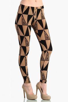 LoveMelrose.com From Harry & Molly   Triangle leggings - Camel