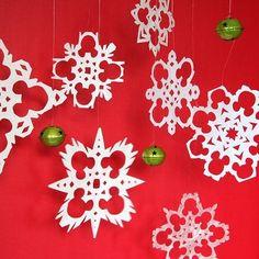 Printable Mickey Head snowflake template