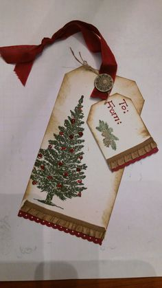 Christmas Gifts Box - Tag class last night was a huge success Christmas Name Tags, Scrapbook Christmas Cards, Christmas Cards To Make, Xmas Cards, Handmade Gift Tags, Scrapbooking, Christmas Paper Crafts, Card Tags, Doterra