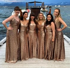 Christmas Bridesmaid Dresses, Champagne Bridesmaid Dresses, Sequin Bridesmaid Dresses, Beautiful Bridesmaid Dresses, Black Wedding Dresses, Wedding Bridesmaids, Sparkly Bridesmaids, Gold Sequin Dress, Dama Dresses