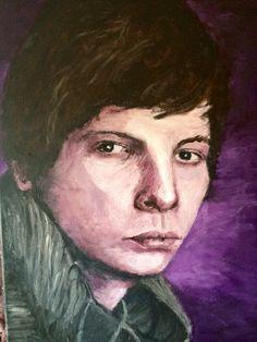 Niels.  Acryl op doek. 50 x 70 cm.