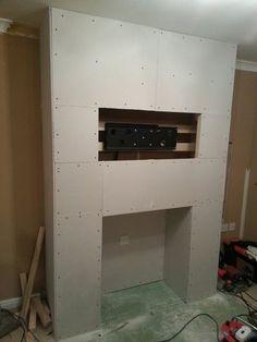 My false chimney breast TV project Fireplace Suites, Fireplace Tv Wall, Fake Fireplace, Fireplace Design, Fireplace Ideas, Chimney Decor, Chimney Breast Decor, Chimney Breast Ideas, Fake Walls