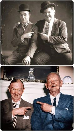 Laurel Et Hardy, Stan Laurel Oliver Hardy, Classic Hollywood, Old Hollywood, Famous Celebrity Couples, The Bowery Boys, Celebrities Then And Now, Old Movie Stars, Glamour Photo