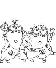 Despicable Me Coloring Pages Minions For Kids - Cartoon Coloring ...