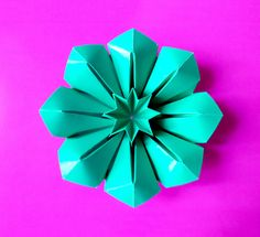 Origami flower Corolla (Francesco Guarnieri ). DIY - gift.  3d paper flo...