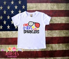 I dig chicks with sparklers, 4th of July shirt, Boys 4th of July shirt, July 4th, Independence Day shirt, Boys red white blue shirt by LittleAsBowtique on Etsy