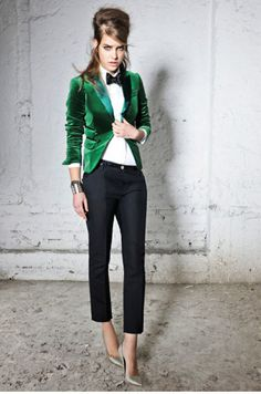 A sartorial dream for nightware as well as the green color of which I am obsessed with for fall…or now.