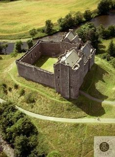 Doune Castle from above