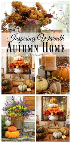 Inspiring Warmth in the Making of an Autumn Home - 31 Daily Fall Kitchen Decor, Fall Home Decor, Autumn Home, Autumn Fall, Diy Christmas Decorations Easy, Thanksgiving Decorations, Thanksgiving Gifts, Seasonal Decor, Halloween Decorations
