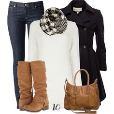 Denim and boots, created by mommygerloff on Polyvore