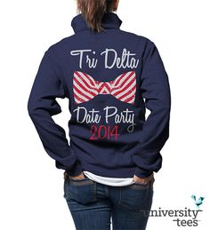 Fun and simple quarter-zip for #TriDelta #DDD #Sorority   Made by University Tees   www.universitytees.com