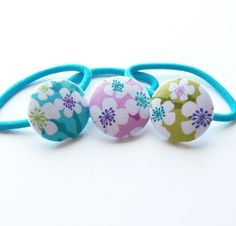 DIY Digital PDF Tutorial for Making Fabric Covered Button Ponytail Holders