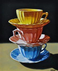 "Daily+Paintworks+-+""Tea+for+Three""+-+Original+Fine+Art+for+Sale+-+©+Margaret+Horvat"
