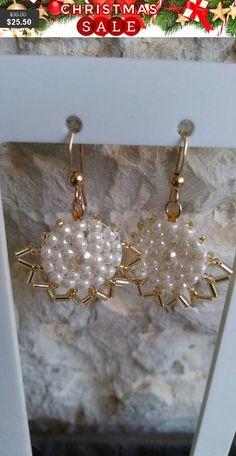 Boho earrings, Red earrings, Statement earrings, Swarovski crystal ...
