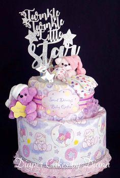 Twinkle Twinkle Little Star Diaper Cake www.facebook.com/DiaperCakesbyDiana