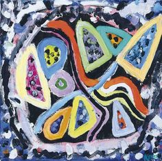 View Sophia's Dance By Gillian Ayres; oil on canvas; Access more artwork lots and estimated & realized auction prices on MutualArt. Abstract Art Images, But Is It Art, Vibrant Colors, Colours, Action Painting, English Artists, Tribal Art, Contemporary Paintings, Art Blog