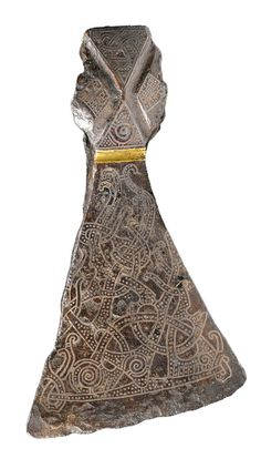 Silver-inlaid axehead in the Mammen style, AD 900s. Bjerringhoj, Mammen, Jutland, Denmark. Photo: The National Museum of Denmark