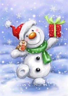 Christmas Graphics, Christmas Clipart, Christmas Snowman, Christmas Crafts, Christmas Decorations, Christmas Room, Christmas Nails, Watercolor Christmas Cards, Christmas Drawing
