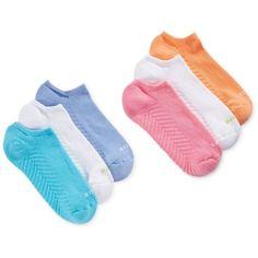 Hue Women's Massaging No Show 6 Pack Socks ($16) ❤ liked on Polyvore featuring intimates, hosiery, socks, sweet melon pack, sweat wicking socks, moisture wicking socks, hue hosiery, wicking socks and hue socks