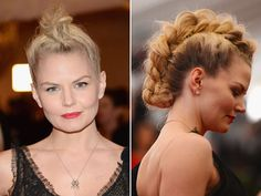 Jennifer Morrison's mussed up French braid mohawk!